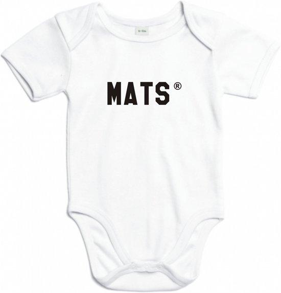Baby rompertje Mats | Korte mouw 50/56 wit