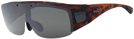 009daac26f2ebc Polariserende Overzet Zonnebril XL Wegklapbaar Safaribruin - Grijze Lenzen –Zonnebril  Polariserend Opzetter Overzetzonnebril Voorzetter Sportbril
