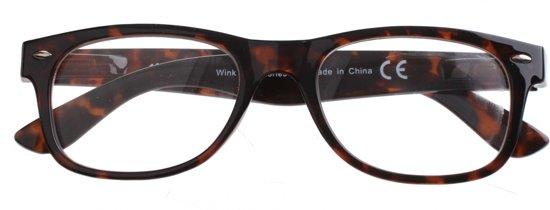 H2optics Leesbril Panter Unisex Bruin Sterkte +1,50