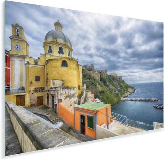 De barokke kerkstijl in het Italiaanse Napels Plexiglas 90x60 cm - Foto print op Glas (Plexiglas wanddecoratie)