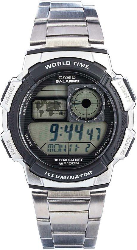 Casio Ae-1000Wd-1Avef - Horloge - 43.7 mm - Staal - Zilverkleurig