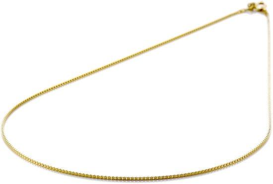 Lucardi 14 Karaat Gouden Ketting - Venetiaanse Schakel 50 cm