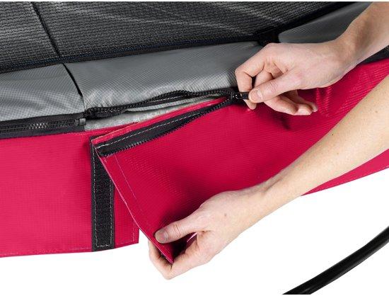 EXIT Elegant Premium trampoline ø253cm met veiligheidsnet Deluxe - rood