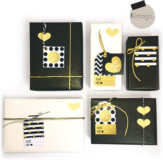 Bolcom Cadeau Inpak Set Verjaardag Liefde Goud