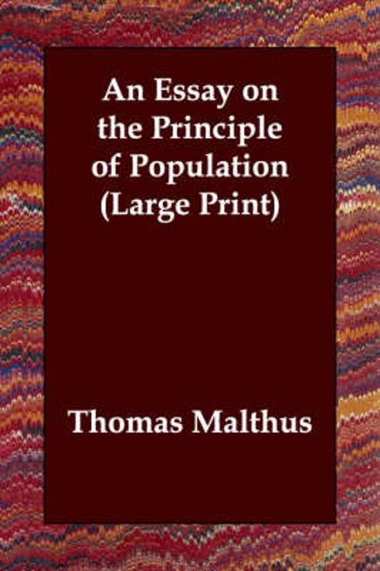 an essay on principle of population