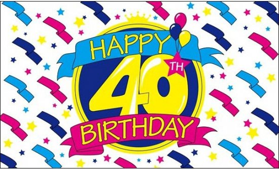 Uitzonderlijk bol.com | Happy Birthday vlag 40 jaar @HC57