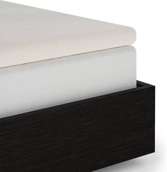 Heckett & Lane - Percale katoen - Split-topper Hoeslaken - Eenpersoons - 90x220 cm - Off white