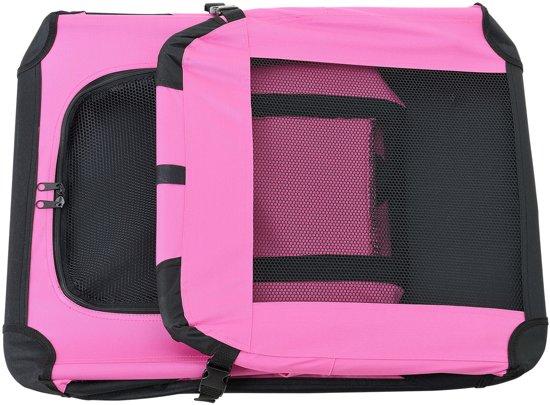 [pro.tec]® Dieren transportbox - reismand - roze - S