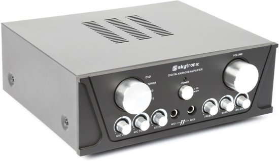 Skytronic Stereo Versterker met 2 Microfooningangen - 400W