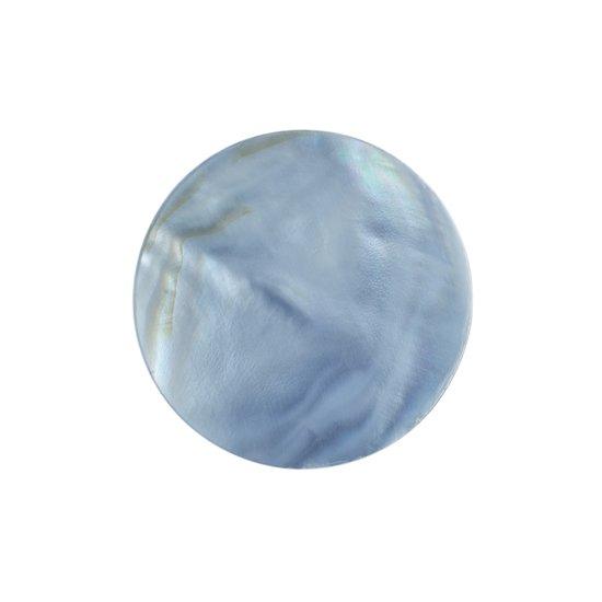 Quiges - Munthouder Munt 25mm Schelp Blauw - EPRS009