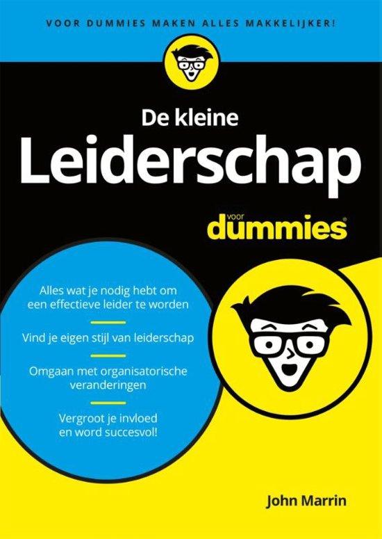 Boek cover De kleine leiderschap voor dummies van John Marrin (Paperback)