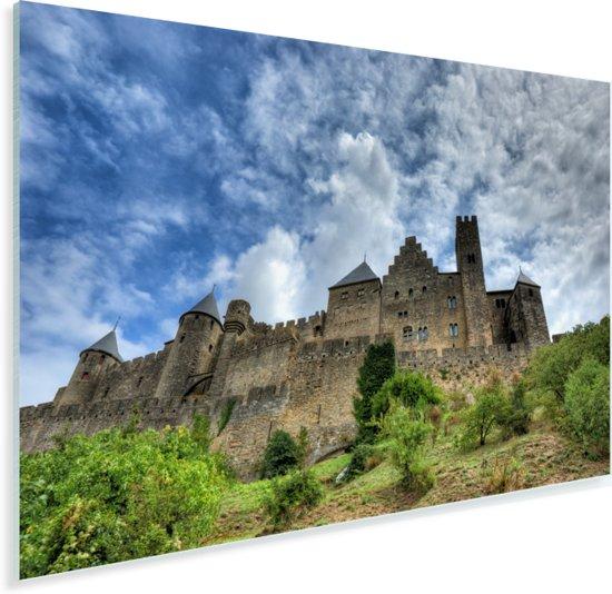 Middeleeuwse citadel in Franse stad Carcassonne Plexiglas 60x40 cm - Foto print op Glas (Plexiglas wanddecoratie)