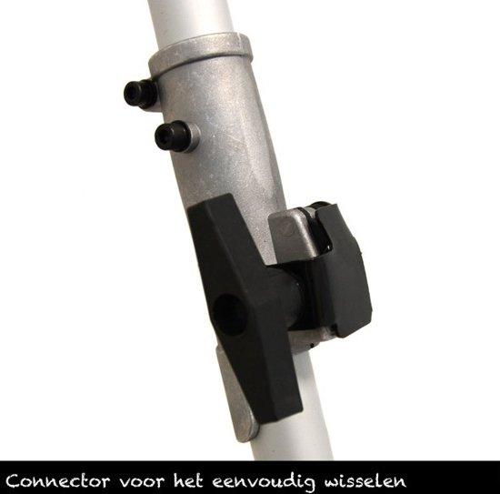Combitool 51,7CC (bosmaaier draad,bosmaaier mes,heggeschaar en kettingzaag)