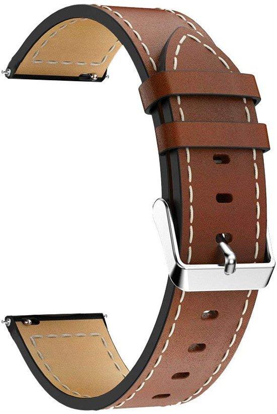 PU Lederen Horloge Band Voor Samsung Galaxy Watch 46 MM - Armband Polsband / Strap / Sportband - Bruin
