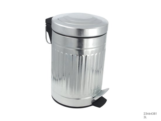 Vaak bol.com | Imperial Kitchen Afvalbak pedaal zink retro 3L XJ68