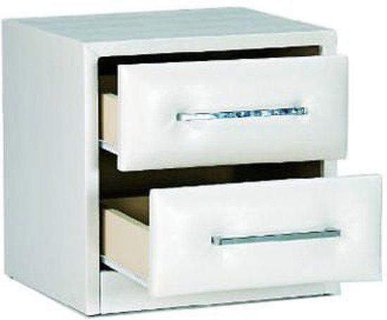 Davidi design alvera nachtkastje wit hout - Wit hout nachtkastje ...