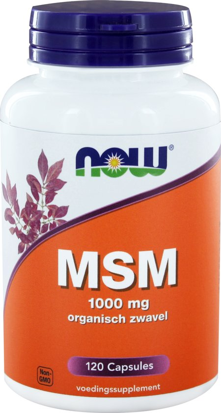 Now MSM - 120 Capsules - Voedingssupplement