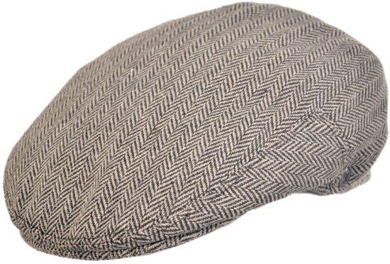 Jaxon Hats Herringbone Flat Cap Bruin - XXL