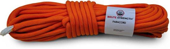 Paracord - Touw - 8 mm - 20 meter - Oranje -  Vismagneet touw - Magneetvissen touw-  920 kg trekkracht