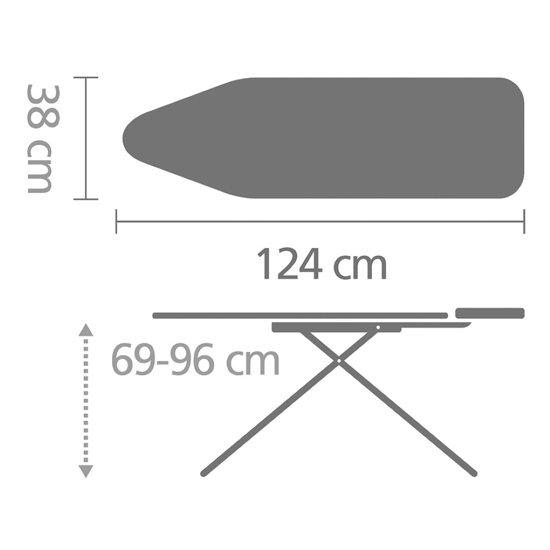 Afmetingen strijkplank