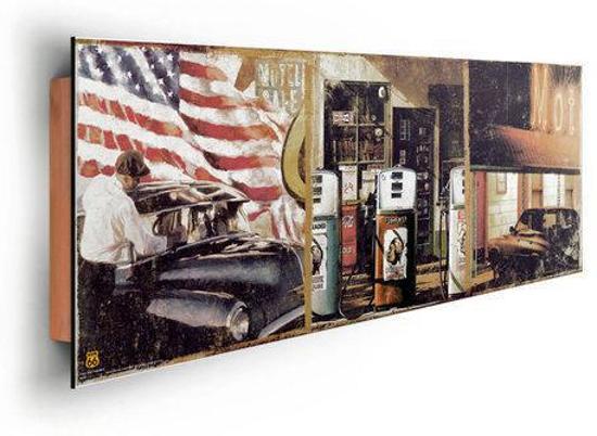 Reinders schilderij route 66 compilation deco panel 90 x 30 cm no 19616 - Deco schilderij slaapkamer kind ...