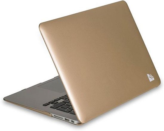 Qatrixx Macbook Air 13 inch Hard Case Cover Laptop Hoes Goud
