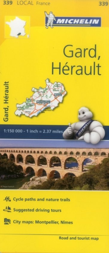 Gard, Herault - Michelin Local Map 339