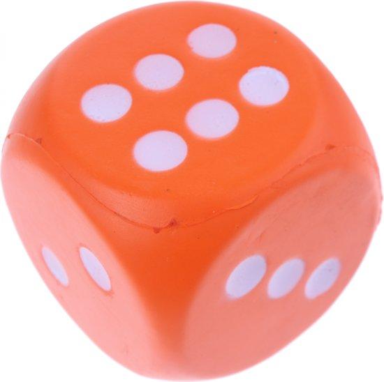 Afbeelding van het spel Johntoy Foam Dobbelsteen 7,5 Cm Oranje