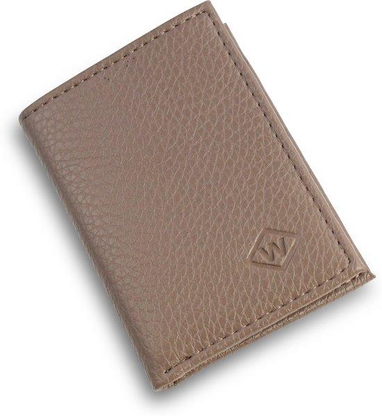 bbb24f5152b Safekeepers Pasjeshouder - Creditcardhouder - Slim wallet - Echt leer -  Taupe