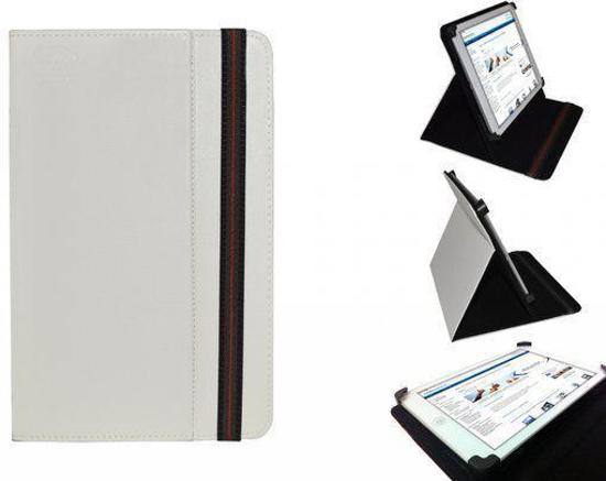 Olivetti Olipad W808 Cover, Handige Standen Hoes, Multi-stand Case, Kleur Wit, merk i12Cover