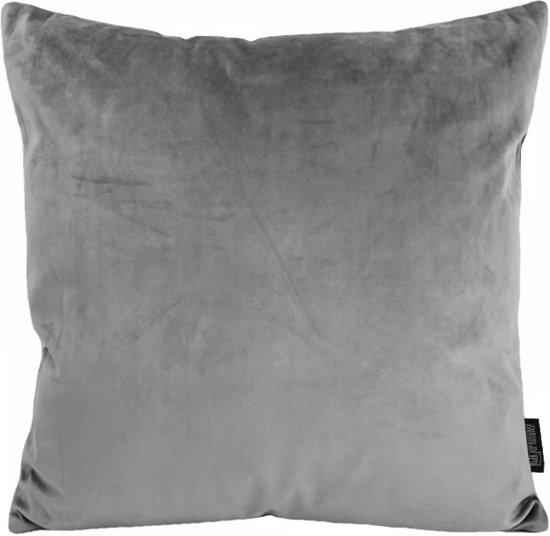 Velvet Grey Kussenhoes | Fluweel - Polyester | 45 x 45 cm | Grijs