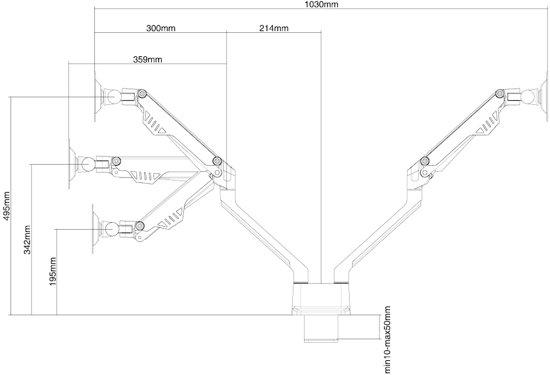 NewStar FPMA-D750DBLACK bureausteun voor flatscreens