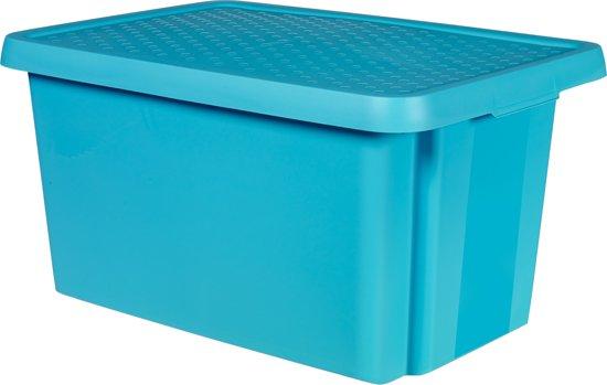 Curver Essentials opbergbox + deksel  - 45 l - Blauw