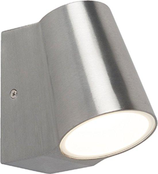 QAZQA Uma - Wandlamp - 1 lichts - D 120 mm - Aluminium