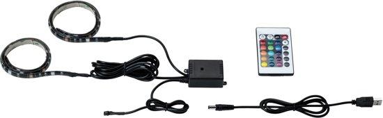 Paulmann LED-strip met USB-aansluiting - 2x0,5m - Kleur instelbaar - Incl. controller - 70706