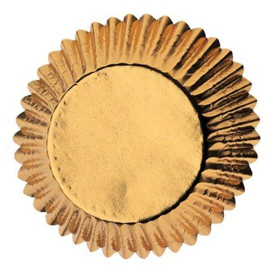 Papieren cupcake vormpjes goud, set van 30 - PME Arts&Crafts