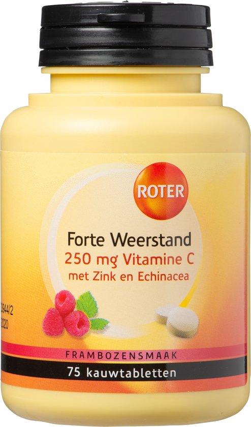 Roter Forte Weerstand 250mg Vitamine C Voedingssupplement - 75 kauwtabletten