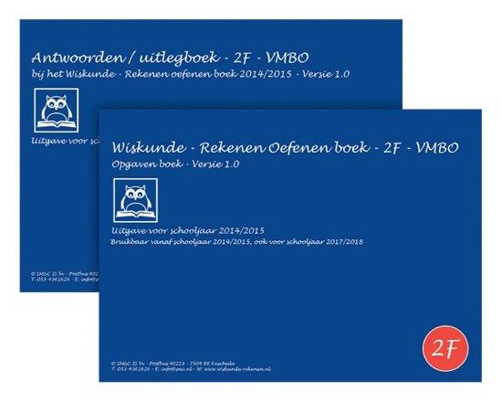 Bol Com Wiskunde Rekenen Oefenen Boeken Set 2f 2014 2015