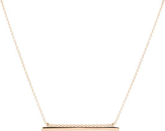 Lovenotes ketting - zilver - geel verguld - balk - 41 + 4 cm