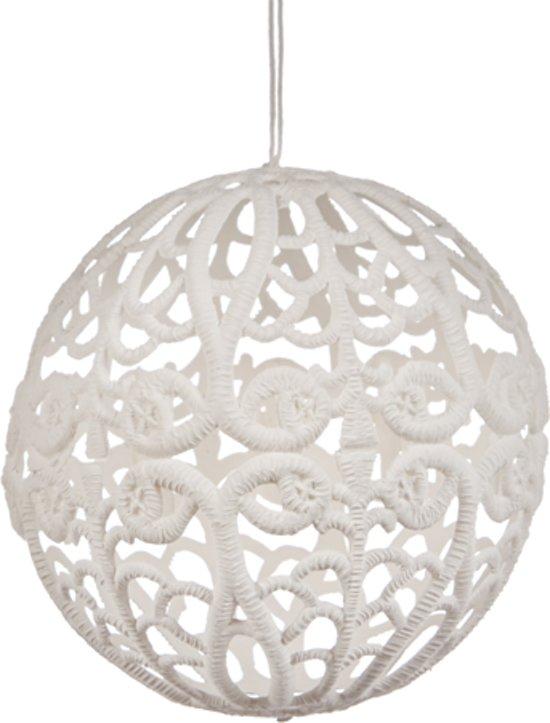 bol.com | Goodwill Kerstbal Open - Set van 6 - 10 cm - Wit