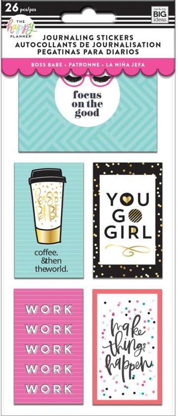 Me and My Big Idea's - Happy Planner Medium Flip Stickers - Boss Babe - 5vellen