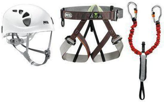 Petzl Klettersteigset : Bol petzl via ferrata kit klettersteigset gr rood wit