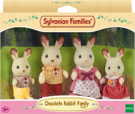 Sylvanian Families 4150 Familie Chocoladekonijn  - Speelfigurenset
