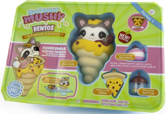 SMOOSHY MUSHY Bento Box Wasbeer Squishy - Speelfiguur