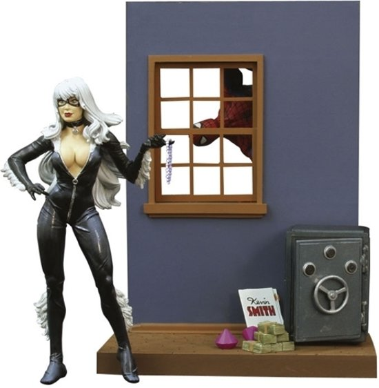 Marvel Select Spider-Man Black Cat Actiefiguur