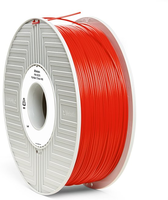 Verbatim 55270 3D Printer Filament PLA 1.75mm 1kg Rood