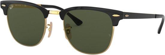Ray-Ban Gold-coloured Top On Black Zonnebril 0RB3716 187 51 - Zwart