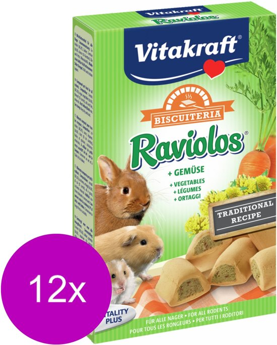 Vitakraft Raviolos Knaagdier - Knaagdiersnack - 12 x 100 g