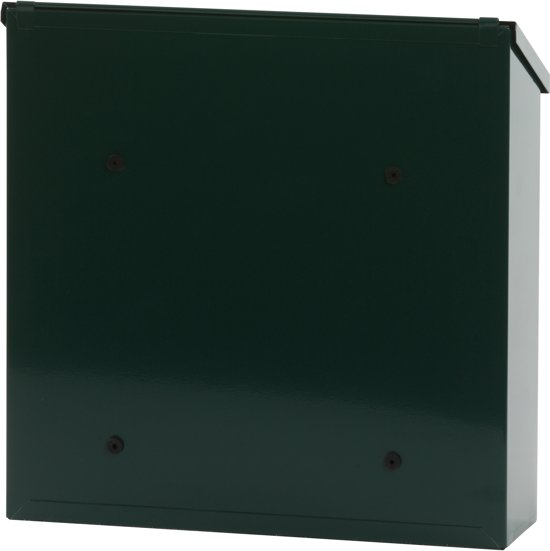 Stalen brievenbus groen - 11,5x37x37 cm