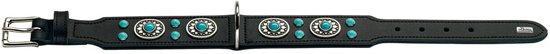Hunter Halsband Sioux Softleder Zwart - 41-49x55x3.9 cm